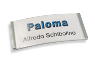 Paloma Win Metall-Optik chrom galvanisiert, 34mm hoch