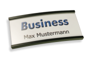 Namensschilder Business anthrazit mit Nadel