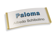 Paloma Win Metall-Optik gold glänzend, 34mm hoch