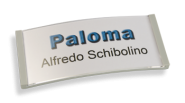 Paloma Win, Kunststoff hellgrau, 30mm hoch