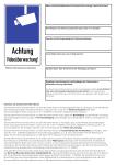 Informationsblatt (Aushang) nach DSGVO, Art. 13, Alu, 297x420 mm