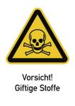 Vorsicht! Giftige Stoffe ISO 7010, Kombischild, Kunststoff, 210x297 mm