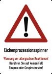 Eichenprozessionsspinner Warnung vor ..., Aluminium, 210x297 mm