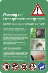 Warnung vor Eichenprozessionsspinner! ..., Aluminium, 500x750 mm