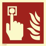 Brandmelder, PVC-U selbstklebend, langnachleuchtend, 160-mcd, 200x200 mm