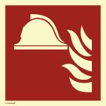 Mittel u. Geräte zur Brandbek. ISO7010, PVC-U selbstkl.,nachl.,160-mcd,148x148mm
