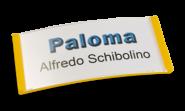 Paloma Win, Kunststoff Gelb, 30mm hoch