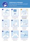 Infektionen vorbeugen, Richtig Hände waschen..., Kombischild, Folie, 210x297 mm