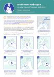 Infektionen vorbeugen, Hände desinfizieren..., Kombischild, Folie, 210x297 mm