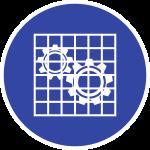 Absperrung prüfen ISO 7010, Folie, Ø 100 mm