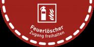 Fußbodenaufkleber Feuerlöscher..., Folie, rutschhemmend, 900x450 mm