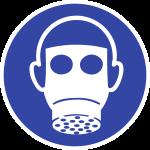 Atemschutz benutzen ISO 7010, Alu, Ø 200 mm