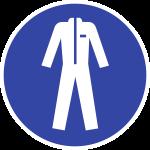 Schutzkleidung benutzen ISO 7010, Alu, Ø 200 mm