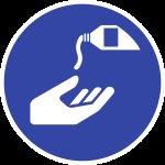 Hautschutzmittel benutzen ISO 7010, Folie, Ø 100 mm