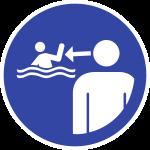 Kinder in Wassereinrichtungen beaufsichtigen ISO 20712-1, Alu, Ø 400 mm
