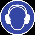 Gehörschutz benutzen ISO 7010, Folie, Ø 200 mm