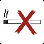 Piktogramm Nichtraucher, Folie, 160x160 mm