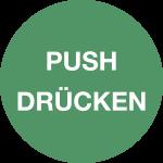 Piktogramm Push/Drücken, Folie, Ø 100 mm