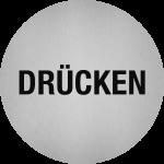 Piktogramm Drücken, Edelstahl, selbstklebend, Ø 50 mm