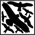 Vogelschutz-Set, Folie, 29x32 cm