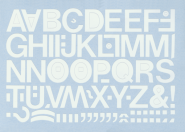 Großbuchstaben weiß, Folie, 20 mm, 1 Bogen