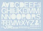 Großbuchstaben weiß, Folie, 25 mm, 1 Bogen