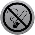 Rauchen verboten, Edelstahl, selbstklebend, Ø 5 cm