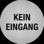 Piktogramm Kein Eingang, Edelstahl, selbstklebend, Ø 50 mm