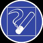 Rauchen innerhalb des begrenzten Raumes gestattet, Alu, Ø 200 mm