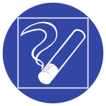 Rauchen innerhalb des begrenzten Raumes gestattet, Folie, Ø 200 mm