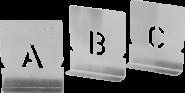 Malerschablonen, Einzelbuchstaben von A-Z, Großbuchstaben, 500 mm