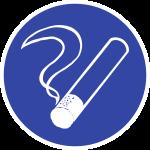 Rauchen gestattet, Folie, Ø 100 mm
