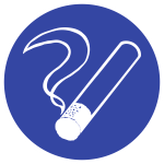 Rauchen gestattet, Kunststoff, Ø 200 mm