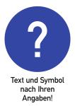 Text und Gebotszeichen nach Ihren Angaben, Alu, 262x371 mm