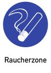 Raucherzone, Kombischild, Kunststoff, 210x297 mm