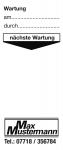 Grundplakette mit Text/Logo schwarz nach Wunsch, Folie, 40x95 mm, 250 Stk./Rolle