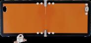 Kleine Gefahrgutwarntafel, klappbar, Aluminium, reflektierend, 300x120 mm