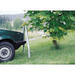 Schutzbügel SAFETY, Stahl feuerverzinkt, Bügelhöhe 150 cm, Breite 80 cm