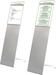 Diskret Innenaufsteller, Stahlblech, 320x1200 mm