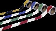 Warnmarkierung linksweisend, PVC-Folie, Rot-Weiß, 50 mm x 16,5 m
