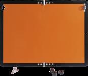 Gefahrgutwarntafel, Alu, klappbar, 400x300 mm