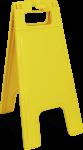 Warnaufsteller Neutrale Ausführung, Kunststoff, 280x580 mm