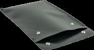 Isopantasche f. Gefahrgutpapiere aus Planenstoff, schwer entflammbar, 250x190 mm