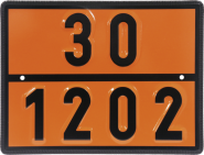 Einstoff-Warntafel für Dieselkraftstoff/Heizöl, UN 30/1202, Stahl, 400x300 mm