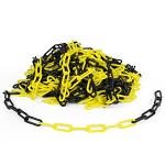 Kunststoffkette gelb/schwarz, 6 mm, Polyethylen, Meterware