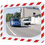 Verkehrsspiegel Unzerbrechlich,Kunststoff weiß mit rot refl. Markierung,60x80 cm