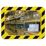 Industrie- und Logistikspiegel Unzerbrechlich, Kunststoff gelb/schwarz, 40x60 cm