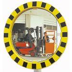 Industrie- und Logistikspiegel Unzerbrechlich, Kunststoff gelb/schwarz, Ø 60 cm