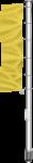 Fahnenmast, 1-teilig, Alu, eloxiert, 7 m Höhe über Flur