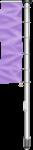 Fahnenmast mit Ausleger, 2-teilig, Alu, eloxiert, 10 m Höhe über Flur